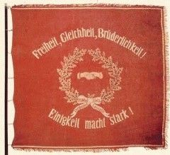 Die Werte der SPD: Freiheit, Gleichheit, Brüderlichkeit/Solidarität und Einigkeit